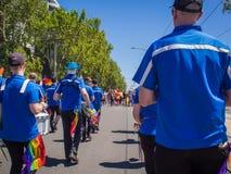 Gay Pride March della fanfara nel 2017 Fotografia Stock