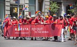 Gay Pride March di New York Immagine Stock