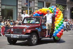 Gay Pride March di New York Immagini Stock