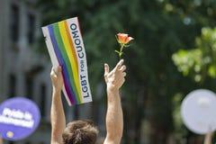 Gay Pride March di NYC Immagine Stock Libera da Diritti