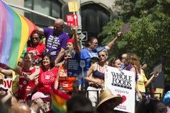 Gay Pride March di NYC Fotografia Stock
