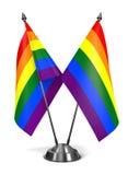 Gay Pride Miniature Flags dell'arcobaleno Immagini Stock