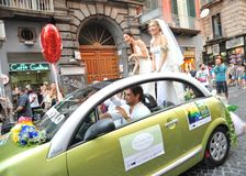 Gay pride in Naples, Italy 2015 Royalty Free Stock Photo