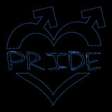 Gay Pride Neon Blue Royalty Free Stock Photography