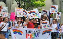 Gay Pride Parade. The annual Gay Pride Parade in New York City Stock Photography