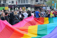Gay Pride Parade in Brussels Stock Images