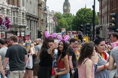 Gay Pride Parade 2017 de Londres imagenes de archivo