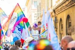 Gay Pride parade in Genoa, Italy Royalty Free Stock Images