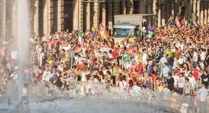 Gay Pride parade in Genoa, Italy Stock Image