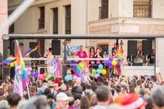 Gay Pride parade in Genoa, Italy Stock Photo