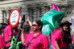 Gay pride parade in Manchester, UK 2010 Royalty Free Stock Photos