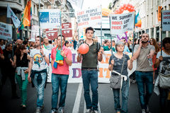 Gay Pride parade in Milan on June, 29 2013 Royalty Free Stock Photo