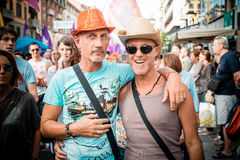 Gay Pride parade in Milan on June, 29 2013 Royalty Free Stock Image