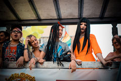 Gay Pride parade in Milan on June, 29 2013 Royalty Free Stock Images