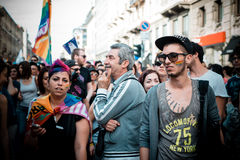 Gay Pride parade in Milan on June, 29 2013 Stock Photos