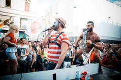 Gay Pride parade in Milan on June, 29 2013 Royalty Free Stock Photos