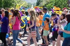 Gay Pride Parade in Salt Lake City, Utah. Salt Lake City, Utah, USA - June 7, 2015. Marchers in the Salt Lake City, Utah Gay Pride Parade Royalty Free Stock Photography