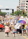Gay Pride Parade in Salt Lake City, Utah. Salt Lake City, Utah, USA - June 7, 2015. Marchers in the Salt Lake City, Utah Gay Pride Parade Stock Photo