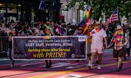 Gay Pride Parade in San Francisco - Corporate VA Palo Alto Healt Stock Image