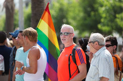 Gay pride parade in Sitges, Catalonia Stock Photo