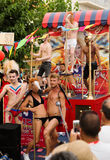 Gay pride parade in Sitges Stock Image