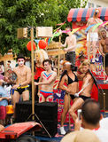 Gay pride parade in Sitges Stock Images