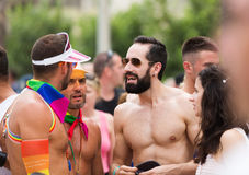 Gay pride parade in Sitges Stock Photo