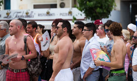 Gay pride parade in Sitges Royalty Free Stock Photo