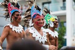 Gay pride parade in Sitges Stock Photos