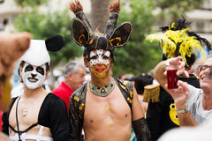 Gay pride parade in Sitges Stock Image