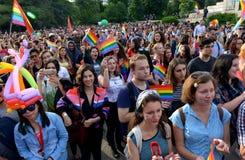 Gay Pride Parade in Sofia, Bulgari june 2017 Stock Images