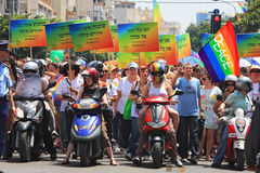Gay Pride Parade in Tel Aviv, Israel. Stock Images