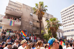 Gay Pride Parade Tel-Aviv 2013. Tel-Aviv, Israel - June 7, 2013: People partying at the annual gay parade in the streets of Tel-Aviv Stock Images