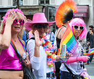 Gay Pride Parade to support gay rights Royalty Free Stock Photography