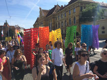 Gay Pride parade in Zagreb, Croatia Stock Photo