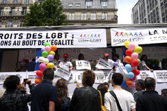 Gay Pride in Paris. Royalty Free Stock Photography