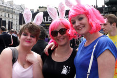 Young women at Gay Pride in Paris Stock Images