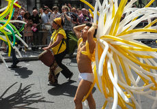 Gay Pride Performer 2013 London Royalty Free Stock Photography