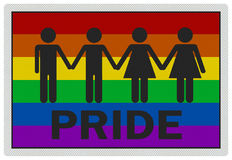 'Gay Pride' - photo realistic sign Stock Photos