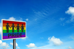 'Gay Pride' - photo realistic sign Royalty Free Stock Photography