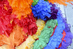 Gay Pride Rainbow Dress Close-Up Royalty Free Stock Images