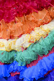 Gay Pride Rainbow Dress Close-Up Stock Photo