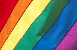 Gay Pride Rainbow Flag Background Stock Photo