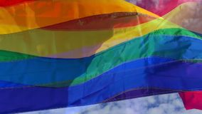 Gay Pride Rainbow Flag Layers Abstract video d archivio