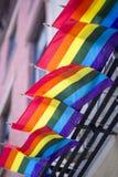 Gay Pride Rainbow Flags Background Stock Photos