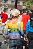 Gay Pride rainbow peace flag Royalty Free Stock Photos