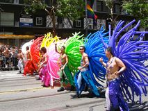 Gay Pride San Francisco Rainbow Balloon Costumes Stock Images
