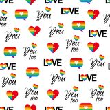Gay pride seamless pattern LGBT vector background vector illustration