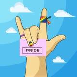 Gay pride. Six color rainbow gay pride Royalty Free Stock Photo