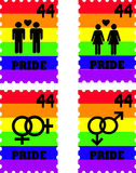 Gay Pride Stamps. Set of Gay Pride Rainbow Stamp Stock Photos